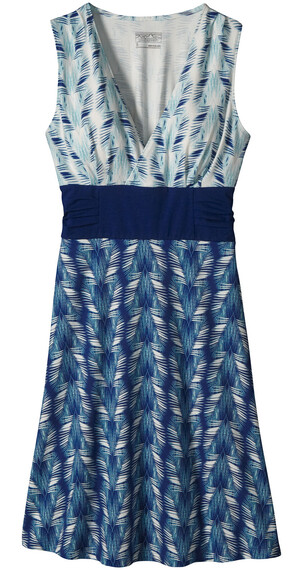 Patagonia W's Margot Dress Banana Breeze Petite: Tubular Blue
